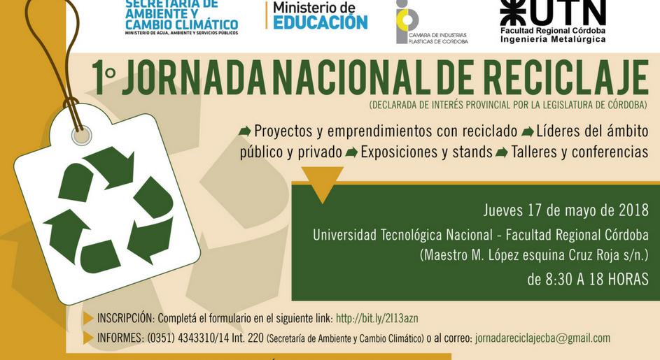Primera jornada nacional de reciclaje en Córdoba