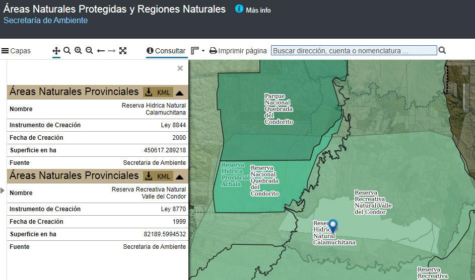 Ambiente sumó mapas sobre Áreas Naturales Protegidas a IDECOR